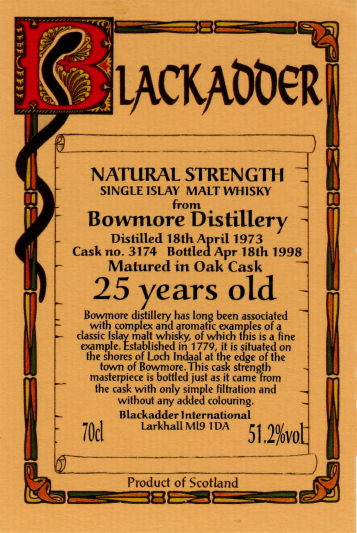 bowmore-blackadder-25-yo
